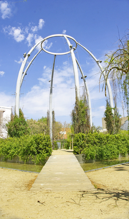 Park of the Poble Nou neighborhood in Barcelona, Catalunya, Spain