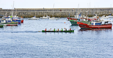Fishing boats in the port of Castro Urdiales, Cantabria, Spain