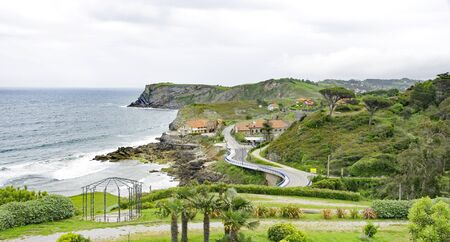 Landscape and gardens of Comillas, Cantabria, Spain