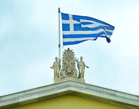 Flag of Greece, Europe Stock Photo