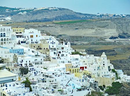 View of Santorini, Greece, Europe Stock Photo
