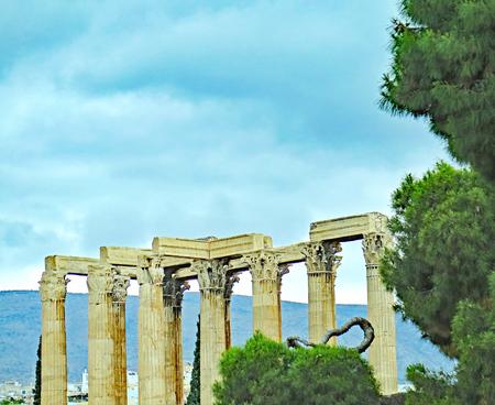 Acropolis of Athens, Greece, Europe Stock Photo