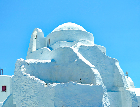 Typical architecture of Mykonos, Grace, Europe Stock Photo