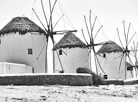 Mills in Mykonos, Grace, Europe Stock Photo