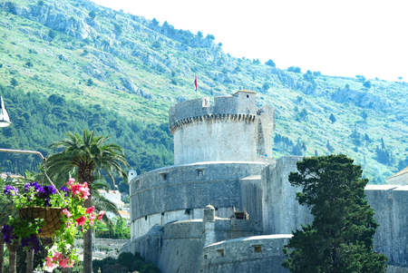 Castle and part of Dubrovnik, Croatia, Europe