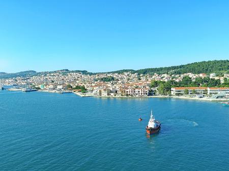 Coast of Kefallinia harbor, Greece, Europe