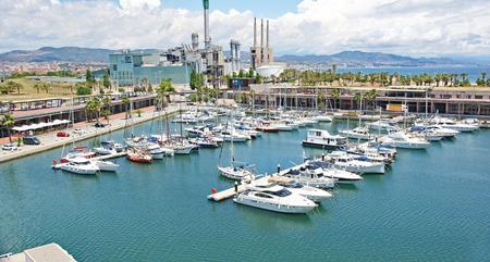 Port Forum in Barcelona, Catalunya, Spain Фото со стока