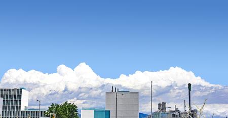 Cumulus in the sky of Barcelona, Catalunya, Spain