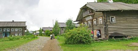 View of Mandrogi, Russian Federation Editorial