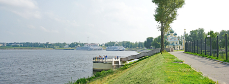 View of Uglich, Russian Federation Stock Photo