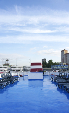 Cruise on the Volga River, St. Petersburg, Russia Stock Photo