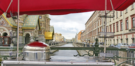 Streets and canals in St. Petersburg, Russia