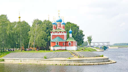 Church on the banks of the Volga River in Uglich, Russian Federation