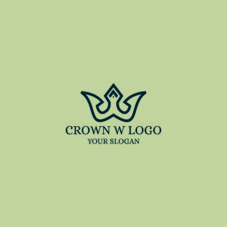 logo illustration of a crown that forms the letter w suitable for companies such as hotels, fashion, real estate, jewelry, boutiques, fashion shops, artists, etc.