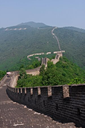 chinese wall: Grande Muraglia cinese a Mutianyu