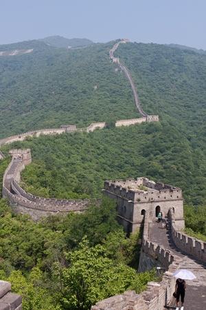 chinese wall: La Grande Muraglia cinese a Mutianyu Archivio Fotografico