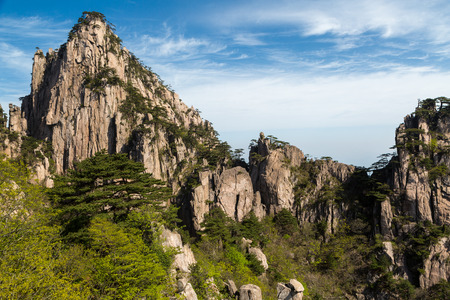 Landscapes of the Huangshan Mountain in China