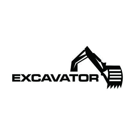excavator design Stock Illustratie