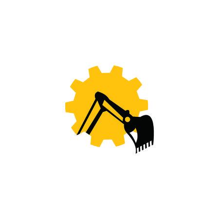 excavator design 矢量图像