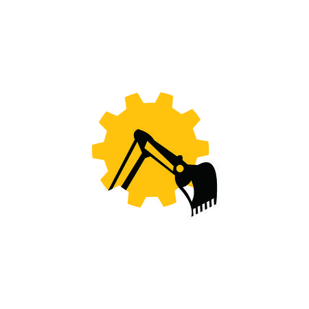 excavator design  イラスト・ベクター素材