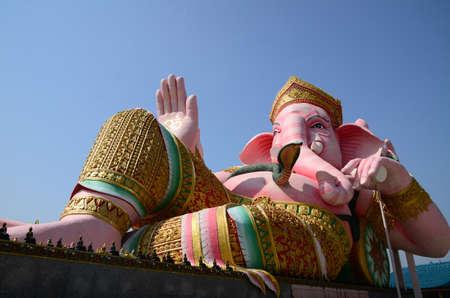 siddhivinayaka: Ganesha in pink sleeping posture  Located in Nakhon Nayok Province in Thailand