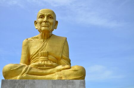Construction of Taud grand monk, one of most famous monk in Thailand  Stock Photo
