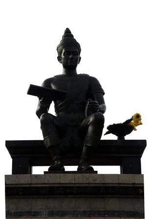 Monument of King Ramkhamhaeng the Great  Sukhothai Historical Park, Thailand