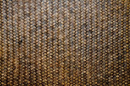 Woven brown wicker basket pattern background texture photo