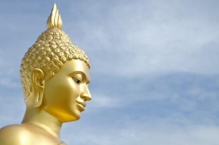 gold Buddha image at Phutthamonthon, Nakhon Pathom, Thailand Stock Photo - 15087821