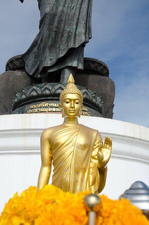 gold Buddha image at Phutthamonthon, Nakhon Pathom, Thailand