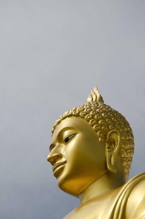 revere: gold Buddha image at Phutthamonthon, Nakhon Pathom, Thailand
