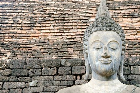 ancient buddha image statue at Sukhothai historical park Sukhothai province Thailand Stock Photo - 15258500