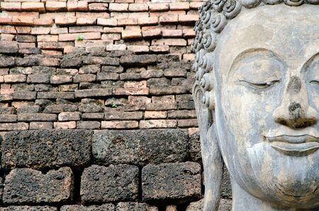 ancient buddha image statue at Sukhothai historical park Sukhothai province Thailand Stock Photo - 15258499