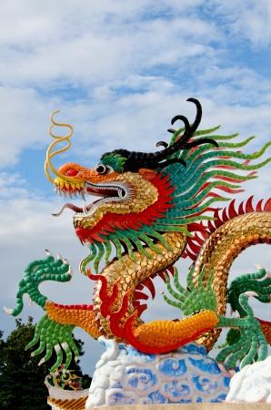Beautiful dragon with blue sky Stock Photo