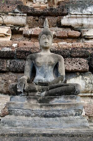 ancient buddha image statue at Sukhothai historical park Sukhothai province Thailand Stock Photo - 15587141