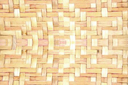 Woven brown wicker basket pattern background texture