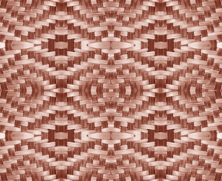 Woven brown wicker basket pattern background texture photo