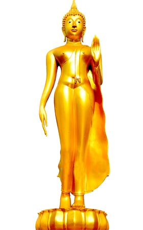 Gold Buddha image in Thailand