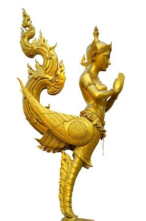 Half-bird statue in Thailand