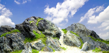 Rocky mountain sky background Stock Photo