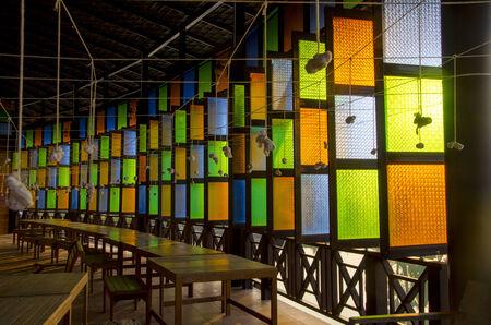 Colored glass antique Thailand