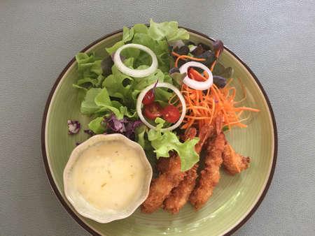 Thailand shrimp salad, fresh food