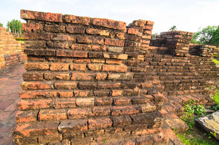 Ancient wall in Sukhothai old, landmark of Sukhothai  Thailand Old, landmark of Sukhothai  Thailand Stock Photo