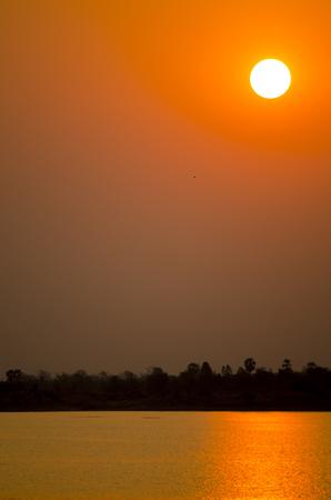 Sunset at Sukhothai in Thailand