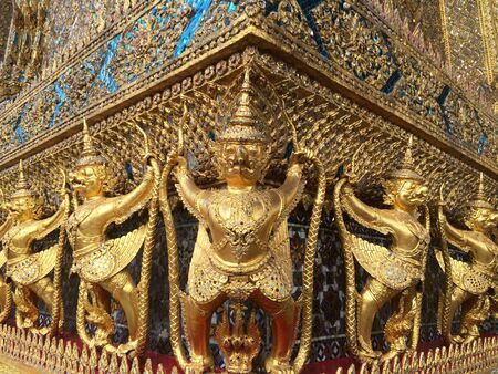 garuda: Garuda Wat Phra Kaew, Bangkok, Thailand. Editorial