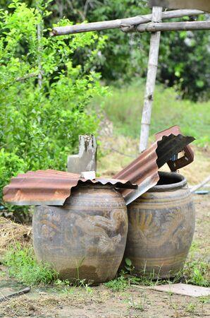 Jar of water in rural Thailand
