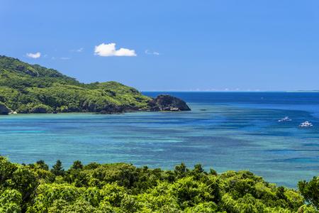 Sea of the coral reefs of Ishigaki Island