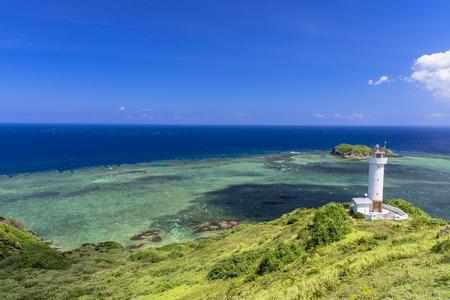 Ishigaki-jima lighthouse and beautiful sea 写真素材