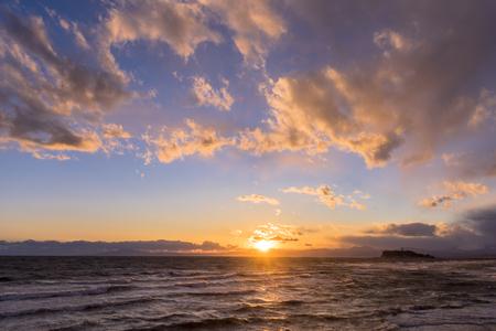 Sunset over the Sagami Bay Stock fotó