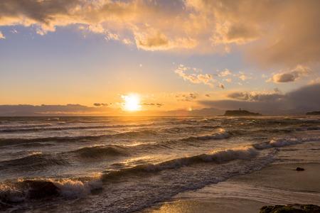 Sunset over the Sagami Bay Zdjęcie Seryjne